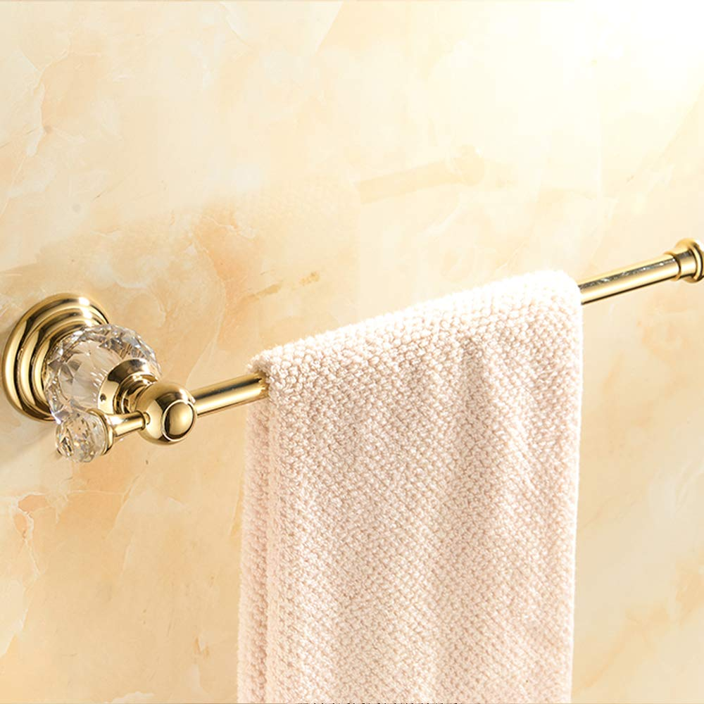 20cm AUSWIND Gold Polished Toilet Paper Holder Clear Crystal /& Glass Tissue Holder Wall Mounted Towel bar or Paper Holder with Stopper 7.8 inch