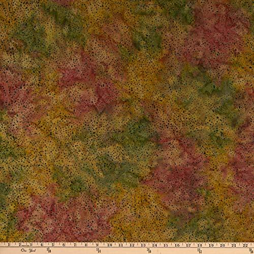Island Batik Globetrotter Mini Dot Light Christmas Fabric, - Batik Christmas