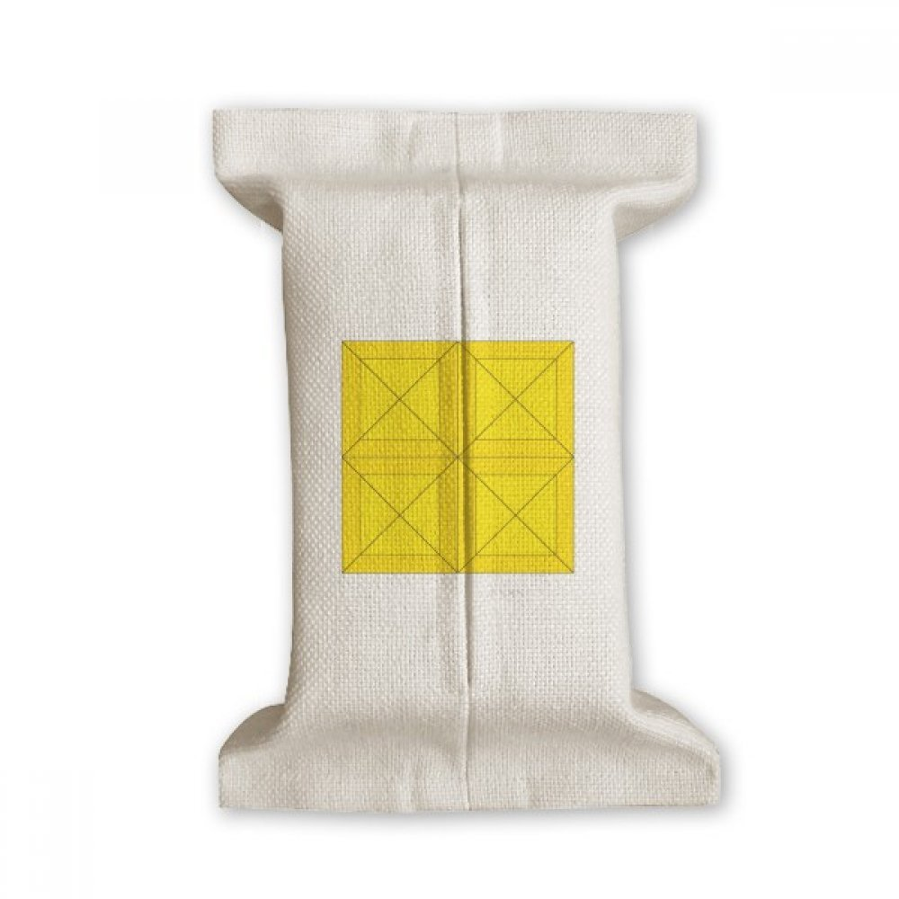DIYthinker Classic Games Tetris Yellow Block Tissue Paper Cover Cotton Linen Holder Storage Container Gift