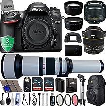 Nikon D7200 24.2MP 1080P DSLR Camera w/ Wi-Fi & GPS Ready + 5 Lens - 6.5 to 2600mm - 64GB - 30PC Kit - Nikon 18-55VR - Opteka 6.5mm - 650-2600mm - Opteka 2.2x - Opteka 0.43x Wide/Macro + 3YR Warranty