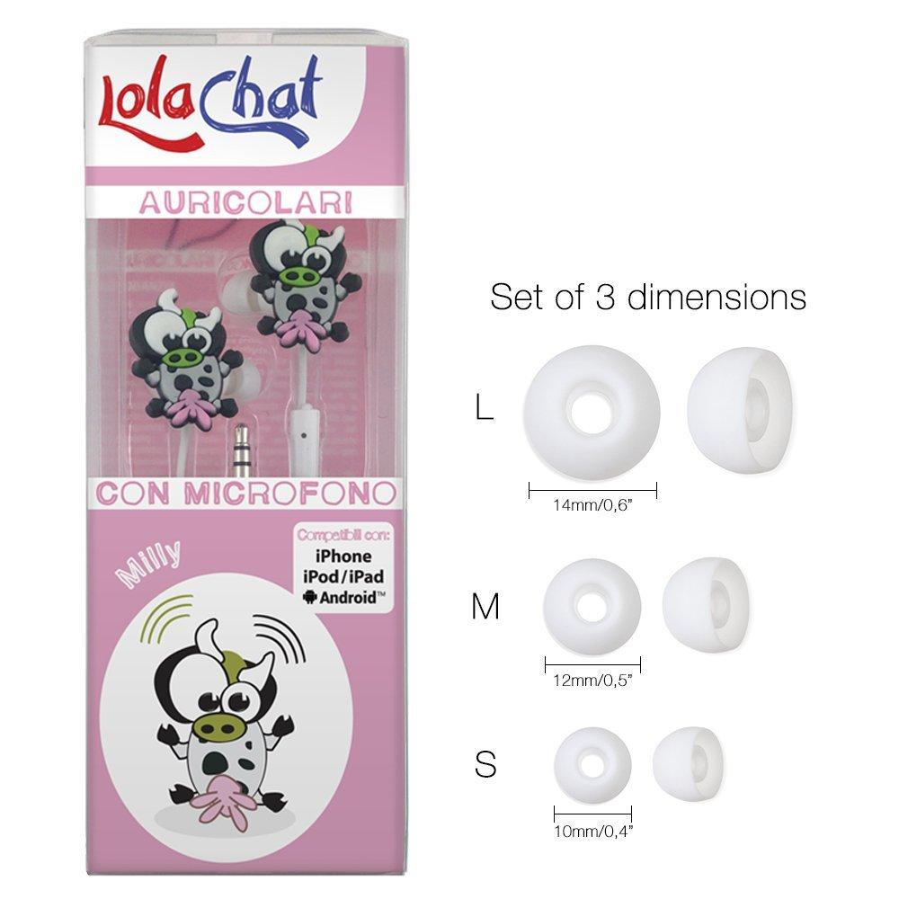 Amazon.com: lolachat Auriculares in-ear con micrófono Blanco ...