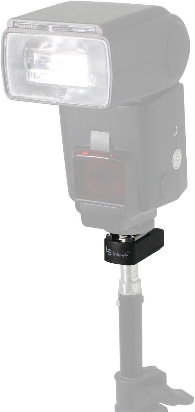 Photo Studio Flash Hot Shoe Mount Adapter Bracket with 1//4 Female Thread 2 Pack Flash Bracket Lock Button System LimoStudio AGG2581