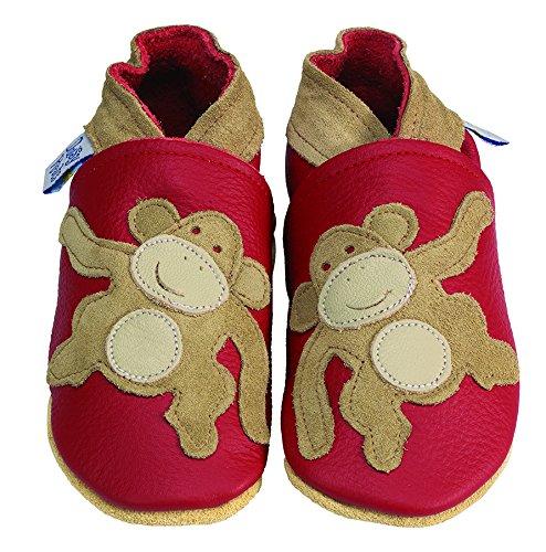 Daisy Roots Mono zapatos de bebé suave piel (talla 0–