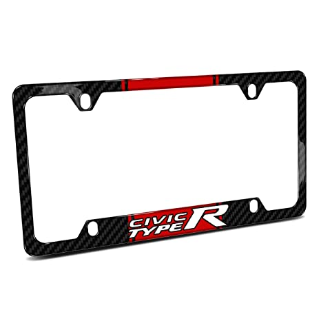 Amazon.com: Honda Civic Type R Red Racing Stripe Black Real Carbon ...