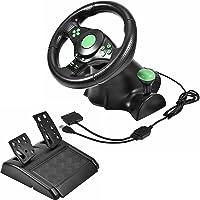 Yosoo Gaming Vibration Racing Volante Pedal para Xbox 360 / PS2 / PS3 / PC USB