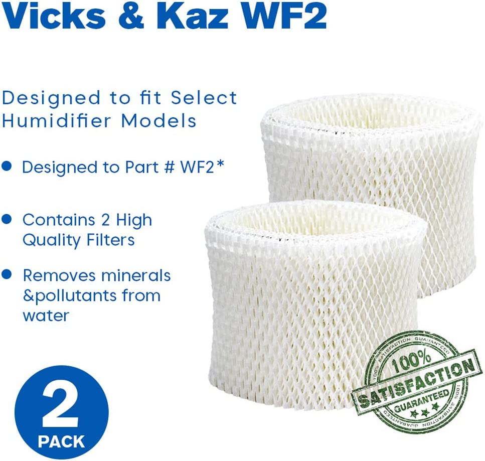Vicks V3900 Compatible with Honeywell HCM-300T Honeywell HCM-630 Kaz HCM-350 5-Pack Replacement WF2 filter for Honeywell HCM-631 Sunbeam Vicks HCM-710 Vicks V3100 Honeywell HCM-315T V3700