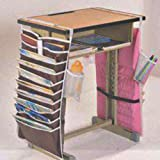 Potelin Desk Storage Bag Desk Organizer Books