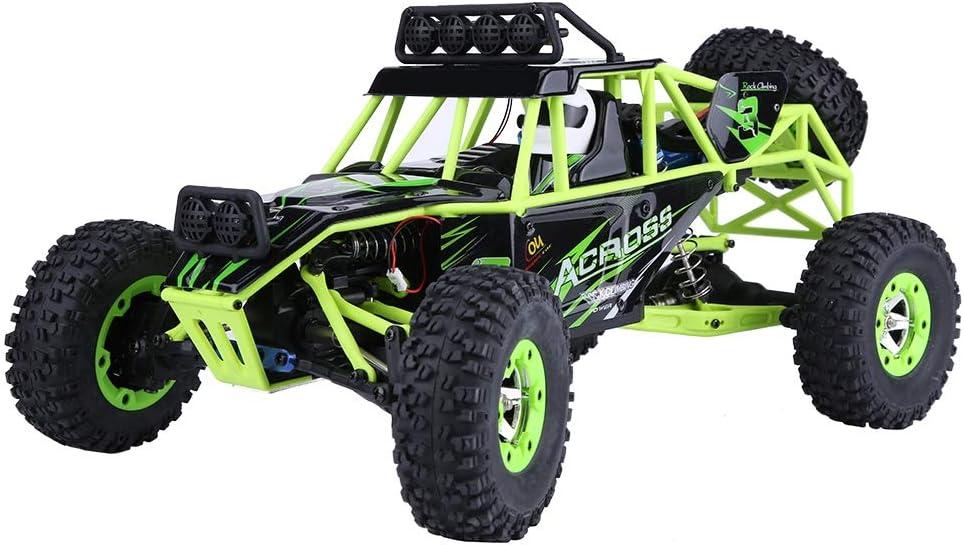 Tbest 2.4GHz RC Crawler Toy, Wltoys 12428 RC Coche Teledirigido Coche de Oruga 4WD 1/12 Escala Electric Off-Road Rock Crawler Car USB (1-veh)