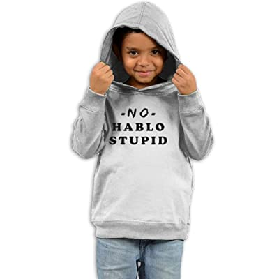Dmnslm Child No Hablo Stupid The Children's Hooded Sweatshirt