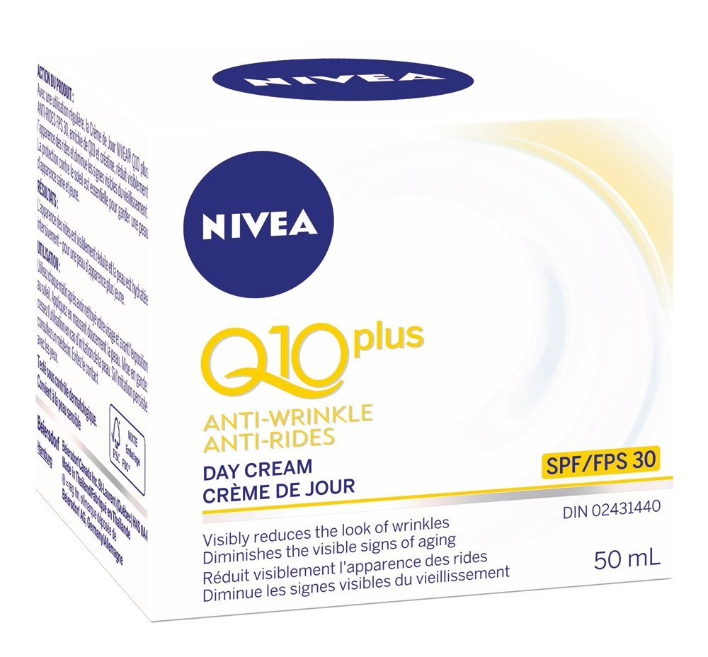 NIVEA Q10plus Anti-Wrinkle Light Day Care for Combination Skin, 50mL jar 056594867956