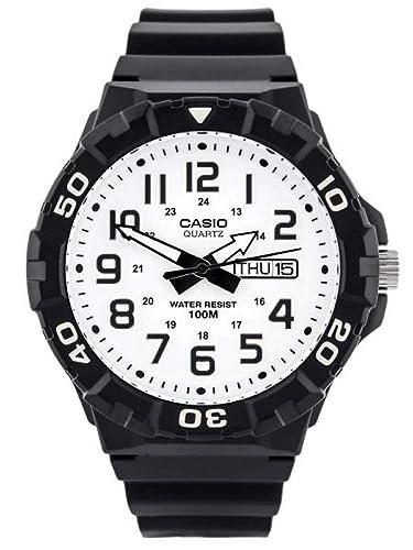 Casio Reloj Analogico para Hombre de Cuarzo con Correa en Resina MRW-210H-7AVEF: Amazon.es: Relojes