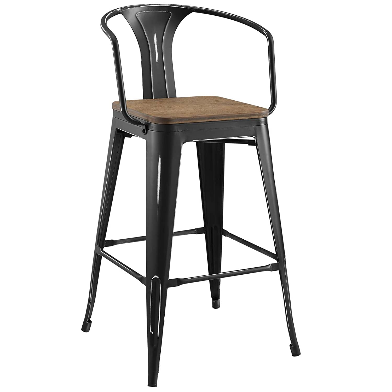 Amazon com america luxury stools industrial country cottage farm bar pub and dining kitchen bar stool chair metal steel wood black kitchen dining