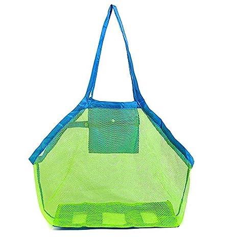 Juguetes de la playa de almacenamiento de bolsa de red niños al aire libre bolsa de almacenamiento grande bolsa de almacenamiento para la natación ...