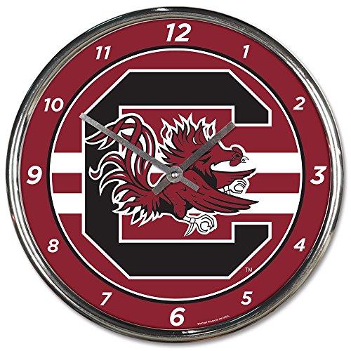 (Wincraft South Carolina Gamecocks 12 inch Round Wall Clock Chrome Plated)