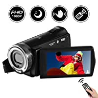 "Camcorder Video Camera Full HD 1080P 20.0MP Digital Camera 3.0"" Rotatable LCD Screen Night vision Vlogging Camera 16X Digital Zoom with Remote Control"