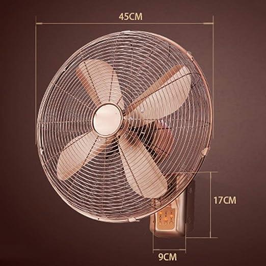 DYR Ventilador eléctrico, Ventiladores de Pared de Metal Vintage ...