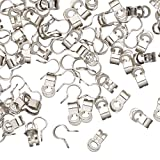Ball chain connector nickel-finished ''pewter'' (zinc-based alloy) 7x4mm fits 2mm ball chain