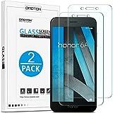 OMOTON Huawei Honor 6A Protection Ecran Verre Trempé, [9H Dureté] [Ultra Clair] Protecteur D'écran Résiste aux Rayures [2 Pièces]