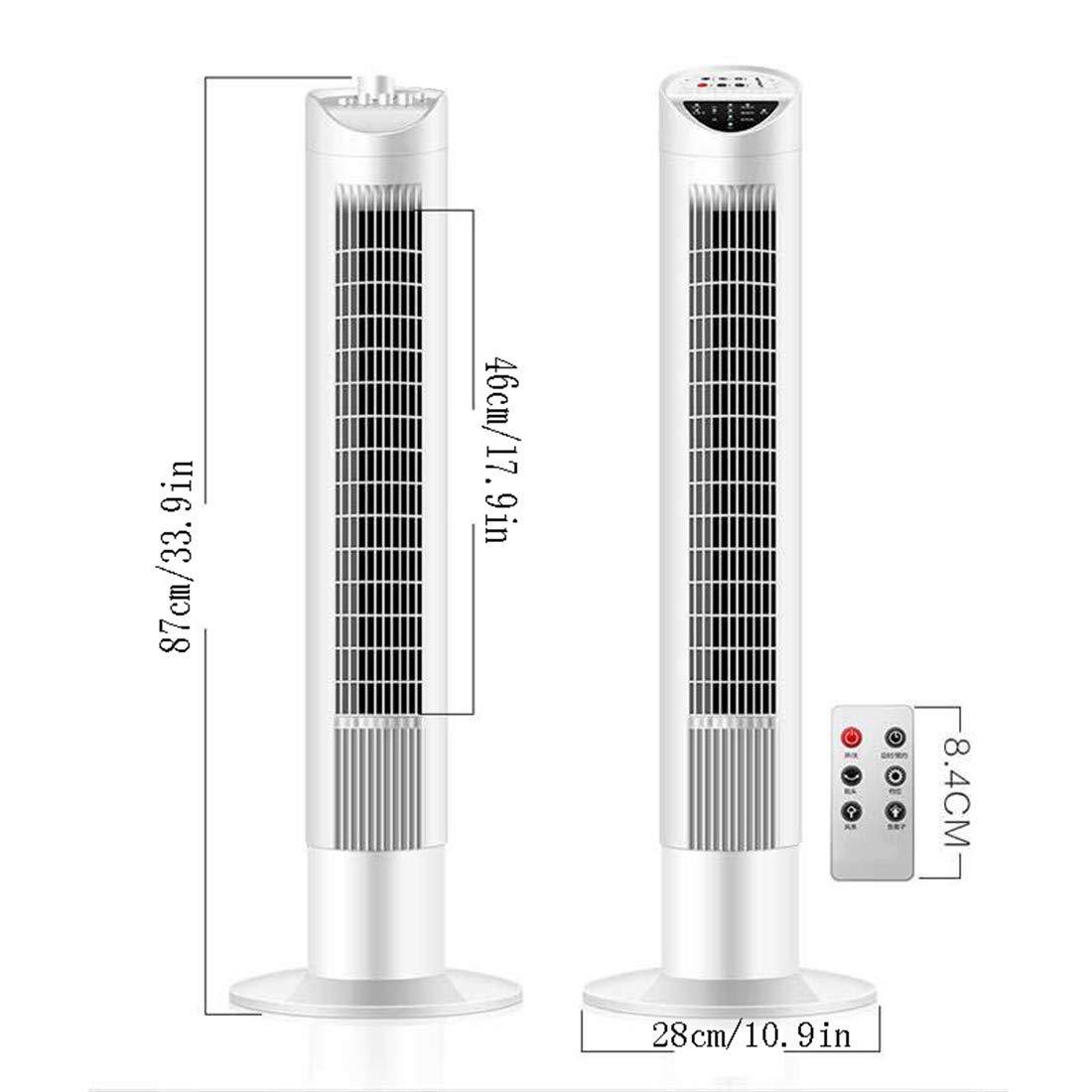 Climatizadores Evaporativo Ventilador De Torre Acondicionados Portatiles Oscilante Con Mando a Distancia 3 en 1 Enfriador Temporizador Programable 55W 120/°