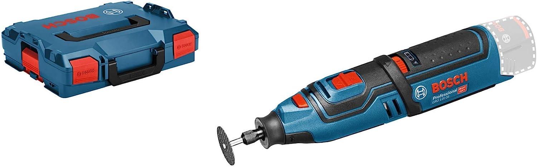 Bosch Professional GRO 12V-35 - Miniherramienta a batería (12V, 5000 – 35000 rpm, sin batería, en L-BOXX)