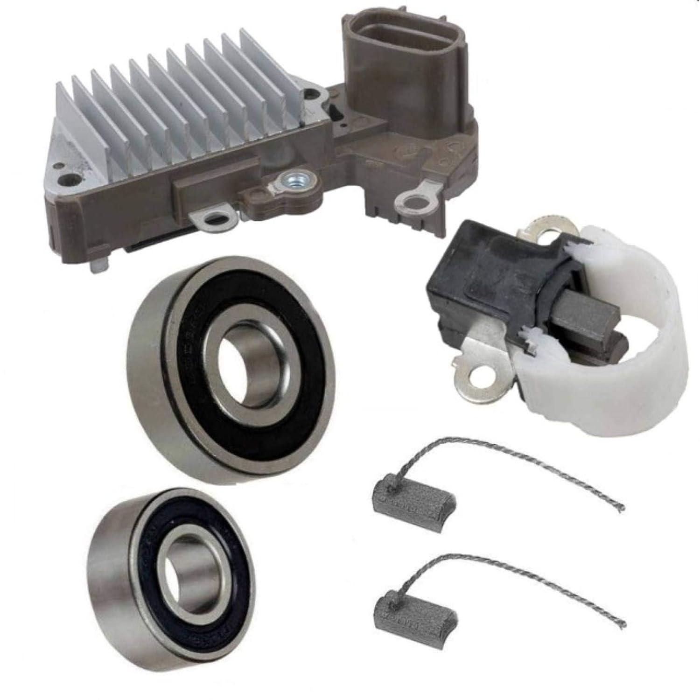 11633RK Brushes Bearings Alternator Rebuild Kit for 2001-2012 Caterpillar Excavator 302.5C 303CR with S3L2 Voltage Regulator