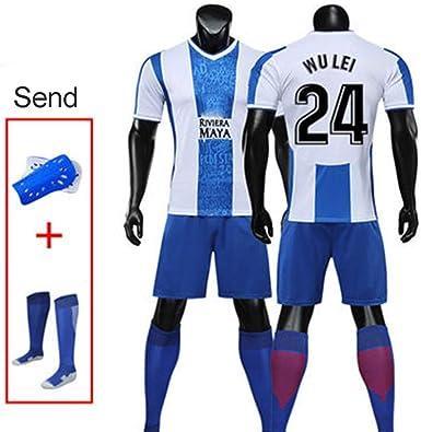 MHDE - Conjunto de Camiseta de fútbol para Adultos y niños de 7 ...
