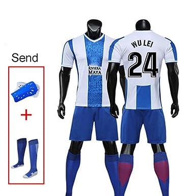 MHDE - Conjunto de Camiseta de fútbol para Adultos y niños ...