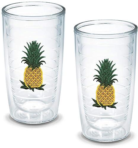 8a7f56da250 Tervis Tumbler, 16-Ounce, Pineapple, 2-Pack