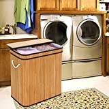 SONGMICS Divided Laundry Hamper Two-section