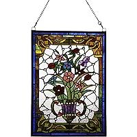 Plafón estilo Tiffany de Makenier Vintage Art Glass