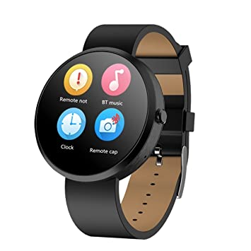 MACTREM Reloj Inteligente Smartwatch G6(IP65, Podometro, Ritmo Card¨ªaco, Notificador, Multi-Sincronizaci¨®n, Compatible con Android, iOS) Negro¡