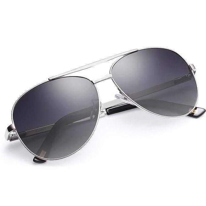 Carfia Aviador Gafas de Sol Hombre Polarizadas Conducción Eyewear UV400 Protección (Marco Dorado Con Lente