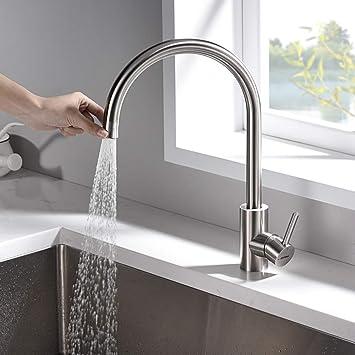 GRIFEMA G4008-1 Kitchen Tap with Hand Shower Grey Sink Mixer Stainless