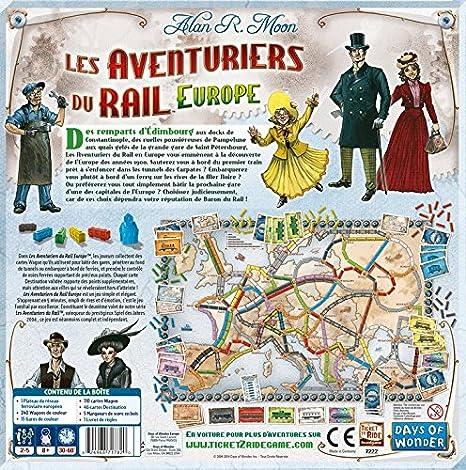 Days of Wonder Ticket to Ride - Europe Niños Estrategia - Juego de Tablero (Estrategia, Niños, 60 min, Niño/niña, 8 año(s), Alan R. Moon): Amazon.es: Juguetes y juegos