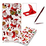 Clear Case for Huawei P8 Lite,Soft Gel Cover for Huawei P8 Lite,Herzzer Stylish Ultra Slim Christmas Series Printed Shockproof Flexible TPU Rubber Silicone Case