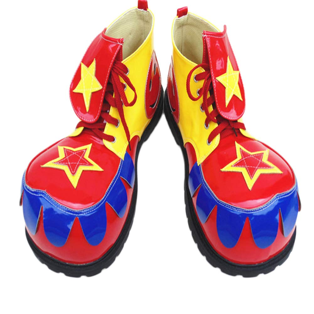 XINXIN XINXIN XINXIN Amarillo Rojo Azul Exagerado Divertido Grande Cabeza Magia Mostrar Zapatos Halloween Cosplay Divertido Mostrar Accesorios 0cddda