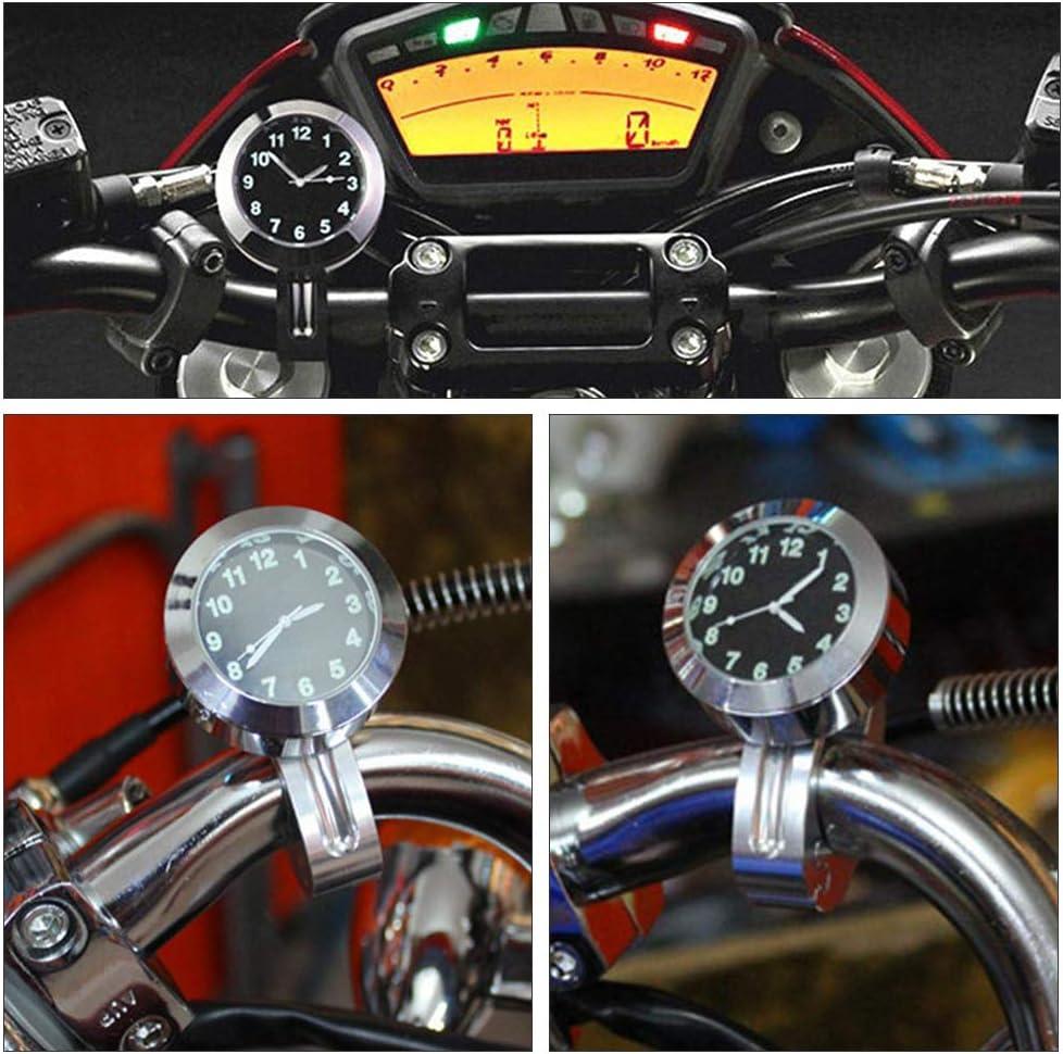 Universal Waterproof Motorbike Clock 7//8 1 Motorcycle Handlebar Mount Clock for Harley//Honda//Yamaha//Street Bike Gobesty Motorcycle Handlebar Watch