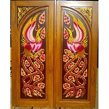 Modern Custom Carving Solid Teak Wood Interior Exterior Entry