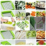 NICER DICER PLUS, Multipurpose CHOPPER for VEGETABLE and FRUIT, [BE CREATIVE IN KITCHEN] BEST STAINLESS Steel Blade for mandoline veggetti Slicer and Cutter-Grater Tool Set-one Touch Food Ganesh Choppers