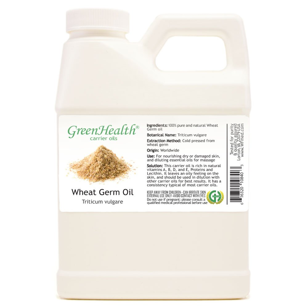 GreenHealth Wheat Germ Oil - 16 fl oz (473 ml) - 100% Pure Virgin Cold Pressed by GreenHealth