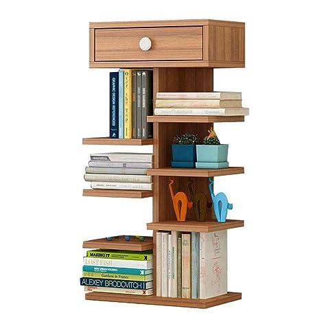 NUANXIN Librería Sala de Estar estantería de Almacenamiento ...