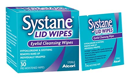 Systane Lid Wipes Eyelid Cleansing Wipes 30 Count Each Nourish Facial Cleansing Brush With Replacements Sensitive Head, 3 Ea, 3 Pack