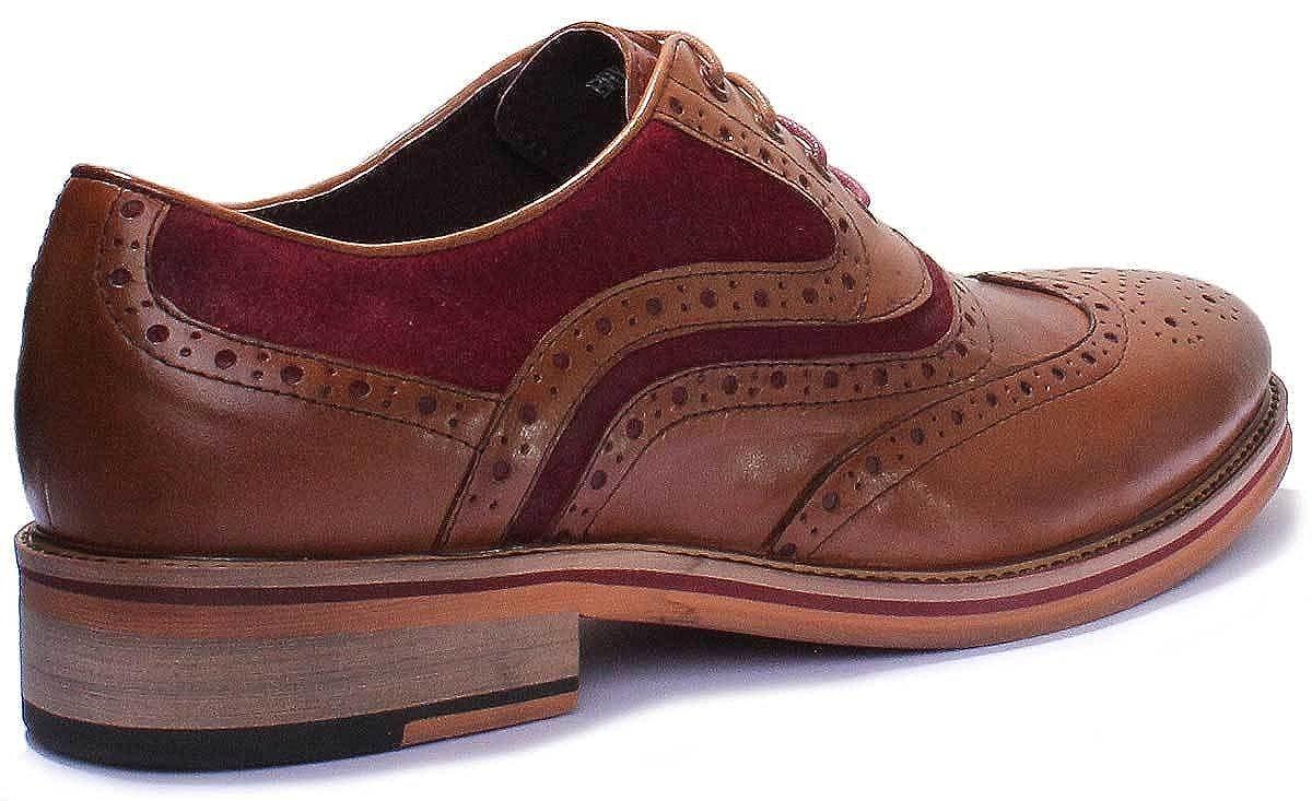 880aa0f8ce Justin Reece Bryan travail de bureau en cuir pour homme à lacets formelle  Chaussures - Marron