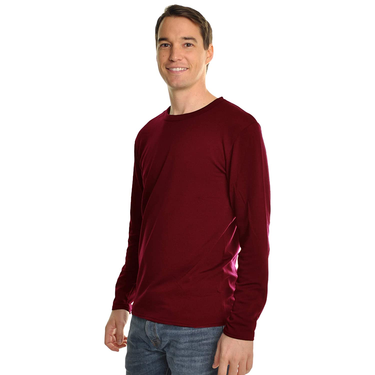 959089ca9c8 Swan Men's Fleece-Lined Crew Neck Long Sleeve Thermal Tops at Amazon Men's  Clothing store: