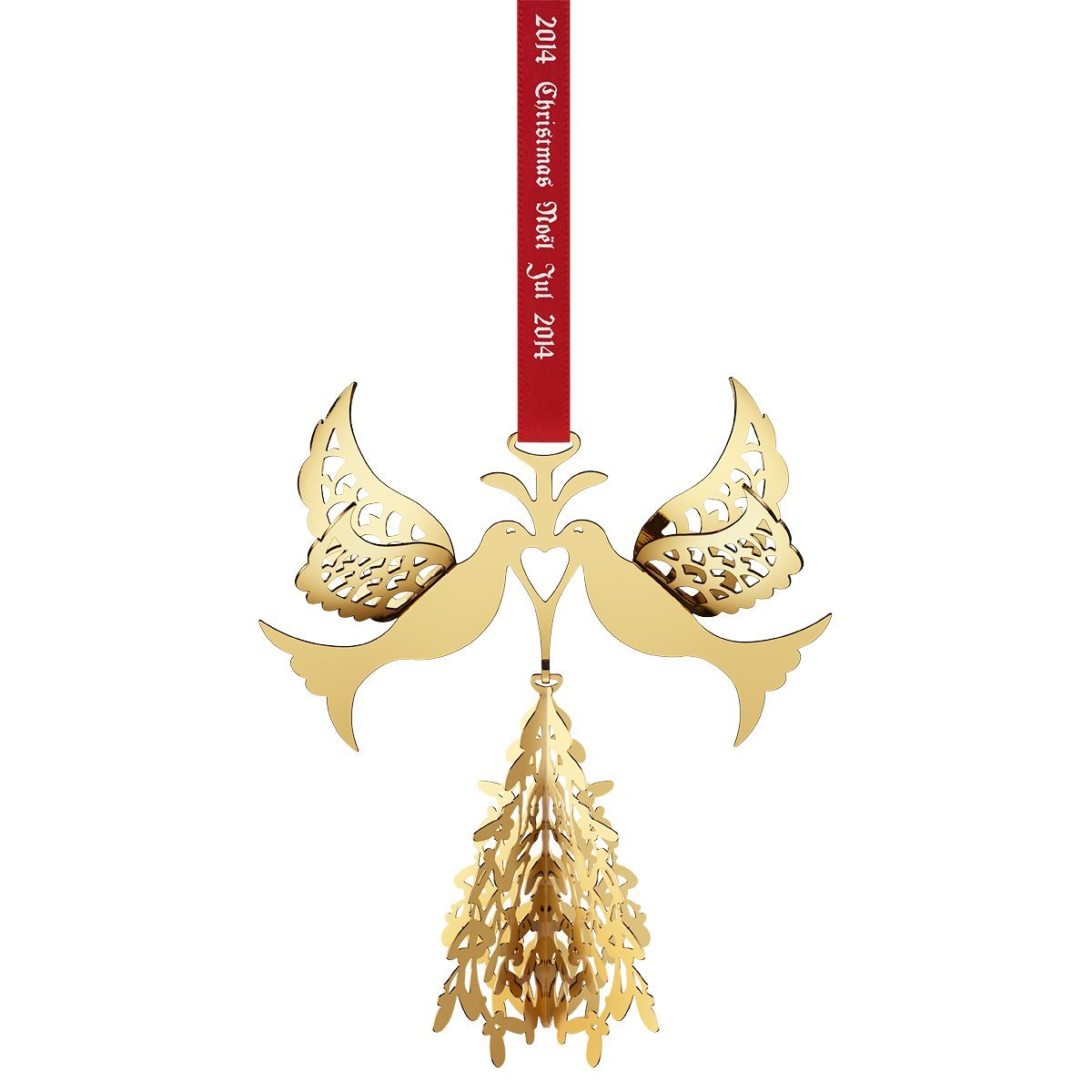 Amazon: Georg Jensen 2014 Christmas Mobile  Fir Tree & Doves, Gold  Plated: Home & Kitchen