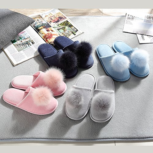 For Baby Indoors Women skid Slippers Washable Non Memory Machine Foam Blue Lightweight RgFTwqTSx