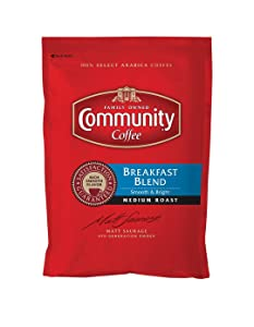 Community Coffee Breakfast Blend Medium Roast Fractional Packs, Box of 40 2.5 Ounce Packets