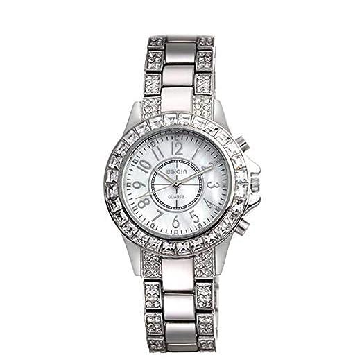 Hermosos Relojes Grandes Relojes de Agua Diamante Relojes de Moda Reloj de Diamante Ladies Watch: Amazon.es: Relojes
