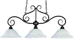 Maxim 2653MRKB Chandelier Light 300 Watts – Pacific Candle 1 Tier Light – Island Lights for Home Decor. Lights and Fixtures