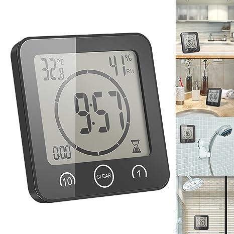 AOZBZ - Reloj de Temperatura con medidor de Humedad para Interiores y Exteriores, termómetro Digital